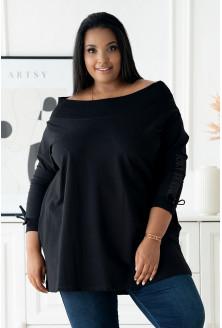 Czarna oversizowa bluza duże rozmiary