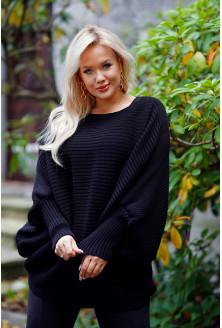 czarny sweter oversize plus size xxl
