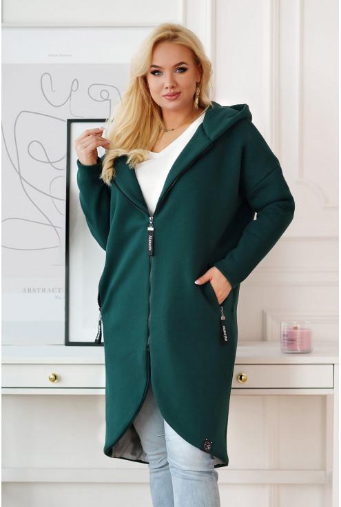 butelkowy płaszcz plus size xxl