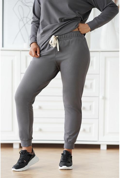 grafitowe spodnie plus size