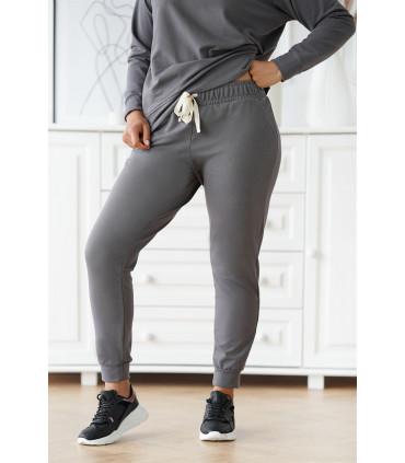 Grafitowe spodnie dresowe plus size - MICHAELA