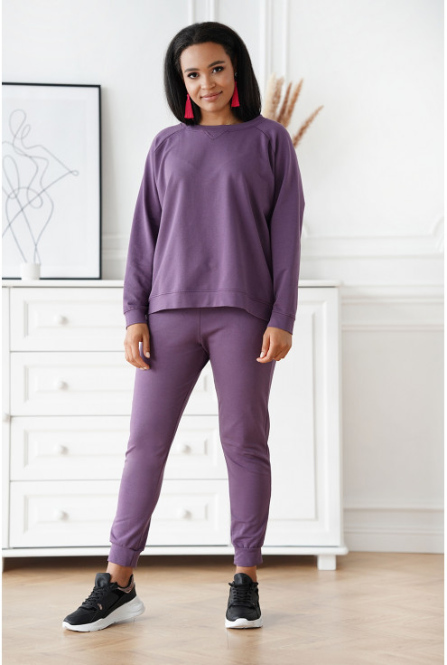wygodne spodnie dresowe - duże rozmiary