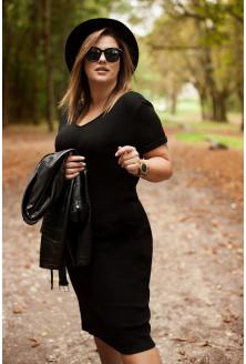 czarna sukienka ściągaczowa xxl