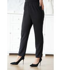 Czarne eleganckie spodnie z szeroką nogawką - Angie