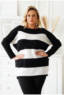 Ciepły sweter duże rozmiary