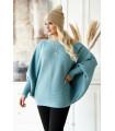 Niebieski sweterek z poziomym splotem - PEYTON