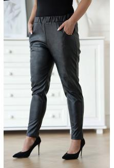 Czarne spodnie z eco skóry z kieszeniami