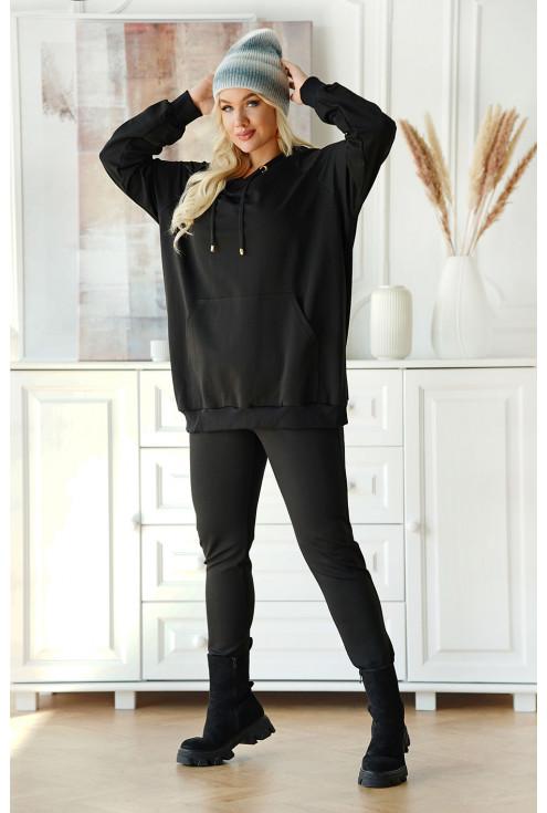 czarna bluza z kapturem  xxl