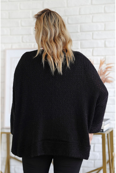tył czarnego sweterka xxl