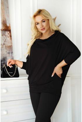 uniwersalna czarna bluzka plus size