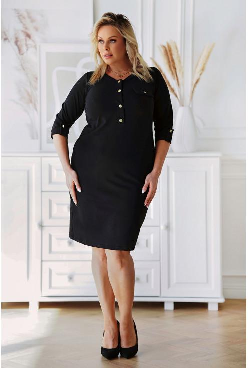 Czarna dresowa sukienka plus size