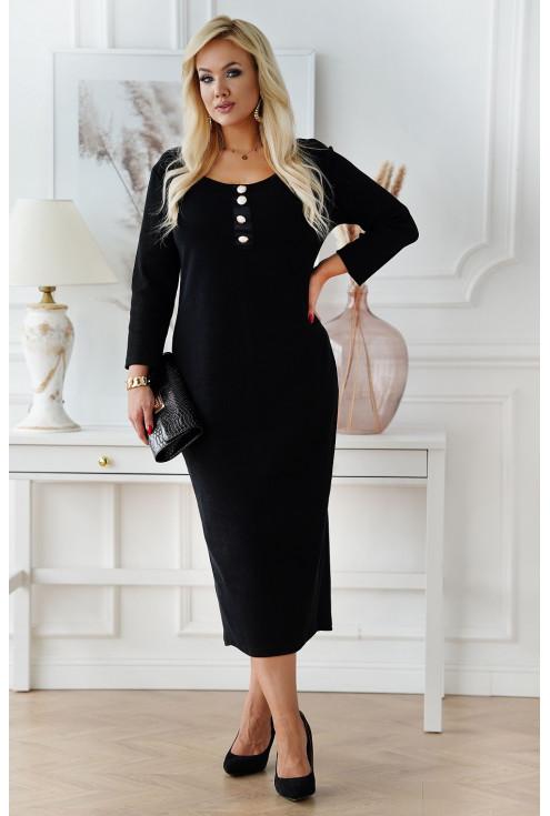Czarna długa sukienka maxi