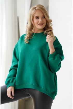 zielona ciepła bawełniana bluza xxl