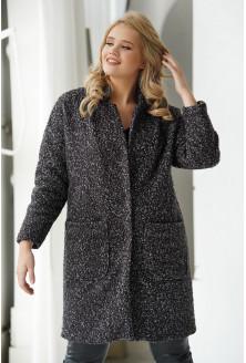 Czarno-szary płaszcz oversize z podszewką - Clarise