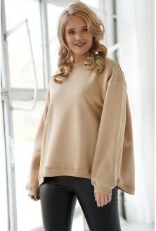Jasnobeżowa bluza oversize XXL
