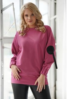 Ciemno-różowa bluza oversize