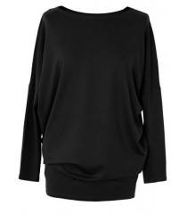 Bluzka tunika z wiskozy czarna BASIC
