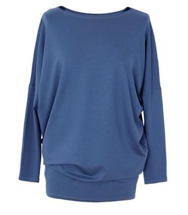 Bluzka tunika z wiskozy niebieska od S do 3XL - BASIC