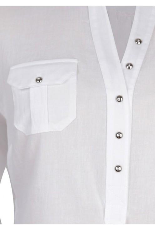 Biała bluzka wizytowa IDA