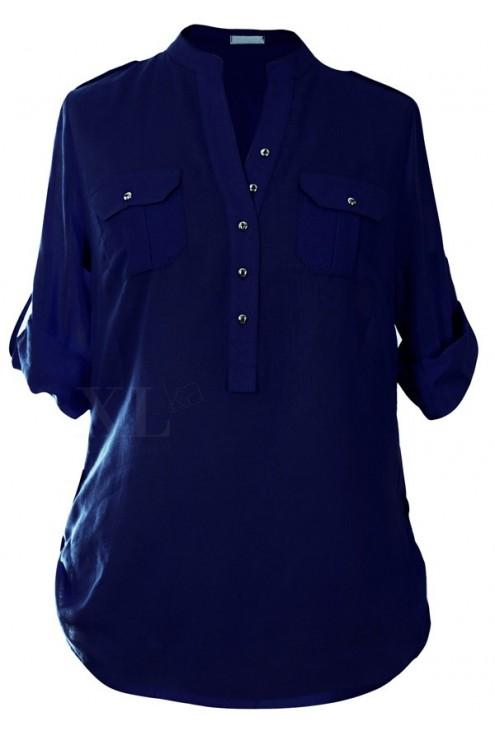 Granatowa bluzka wizytowa IDA