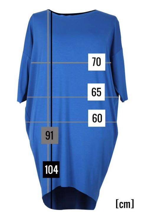 Sukienka dzianinowa oversize SUSAN niebieska