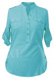 Błękitna bluzka wizytowa IDA