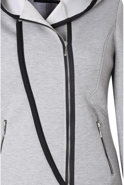 Jasnoszary płaszczyk dresowy / bluza INES