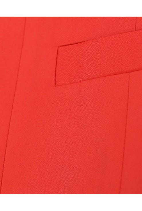 Czerwony żakiet na stójce SANDRA
