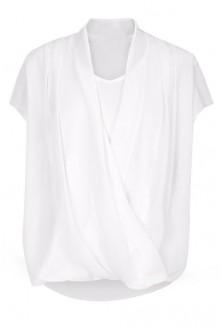 Biała bluzka koszulowa na duży biust Maya