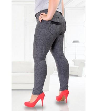 SZARE legginsy z kieszeniami CRISTAL