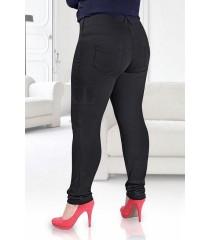Czarne legginsy plus size OCIEPLANE AMELIA