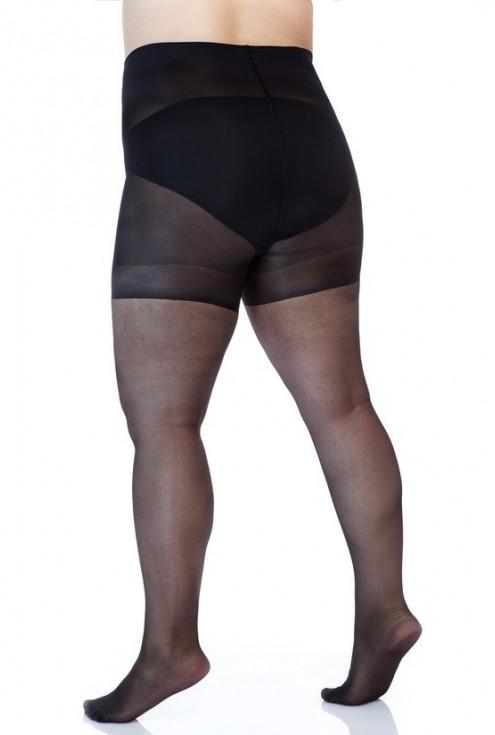 Czarne rajstopy wyszczuplające - duże rozmiary
