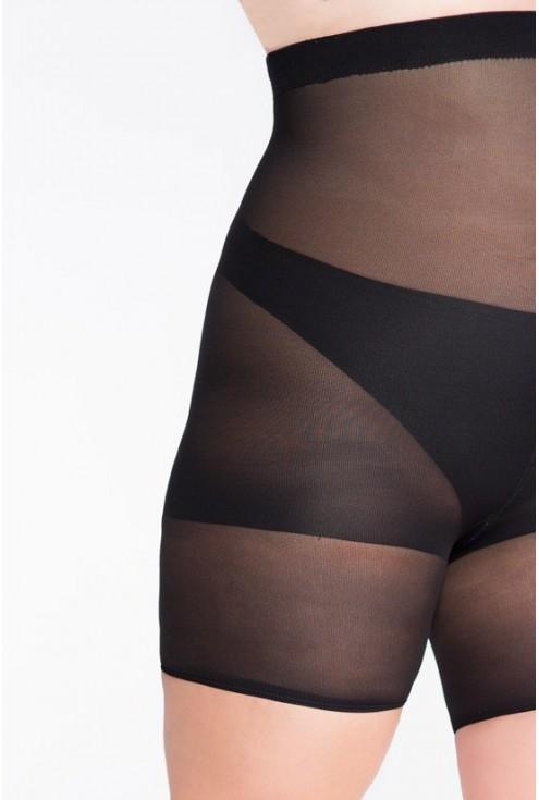 Czarne majtki wyszczuplające biodra i brzuch