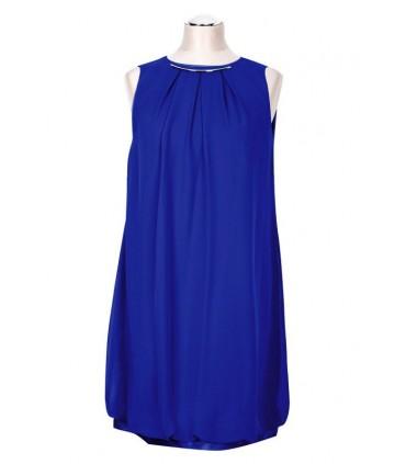 Kobaltowa sukienka bombka ANNIE
