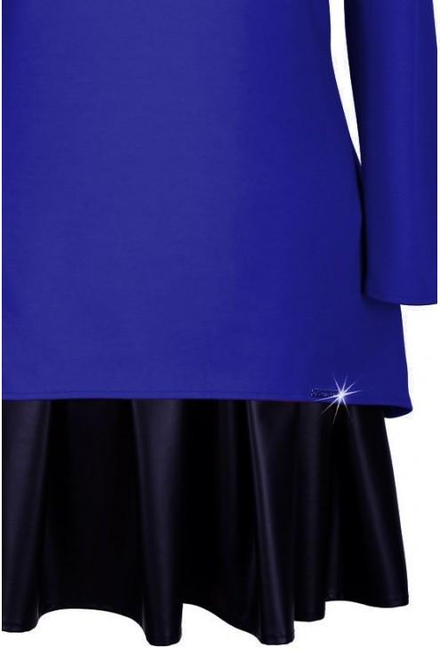 Kobaltowa sukienka rozkloszowana KAMA