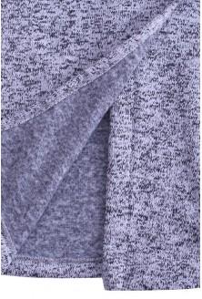 Jasnoszary sweter płaszczyk z kołnierzem DORIS