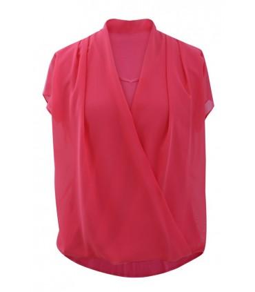 Bluzka koszulowa Maya - malinowa