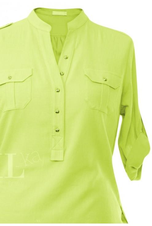Limonkowa bluzka wizytowa IDA