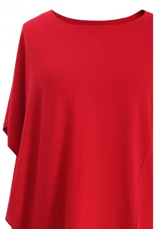 Czerwona tunika z krótkim rękawem LORI