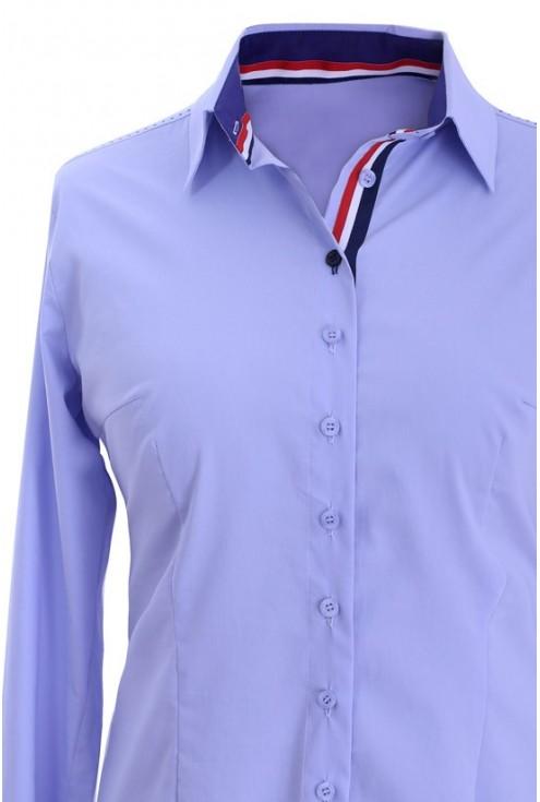 Elegancka koszula wizytowa jasnoniebieska ADA