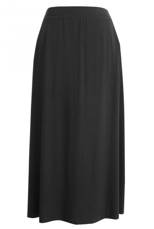 Czarna długa dzianinowa spódnica ALICJA