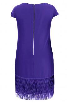 Kobaltowa sukienka z frędzlami SAMANTA