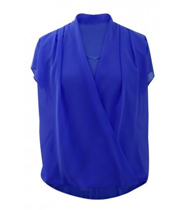 Bluzka koszulowa Maya - kobaltowa