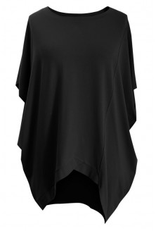 Czarna tunika z krótkim rękawem LORI
