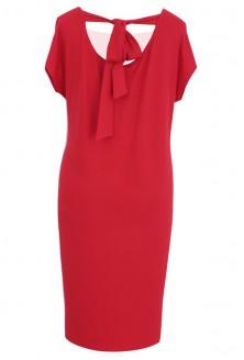 Prosta czerwona sukienka z kokardą IZABELA