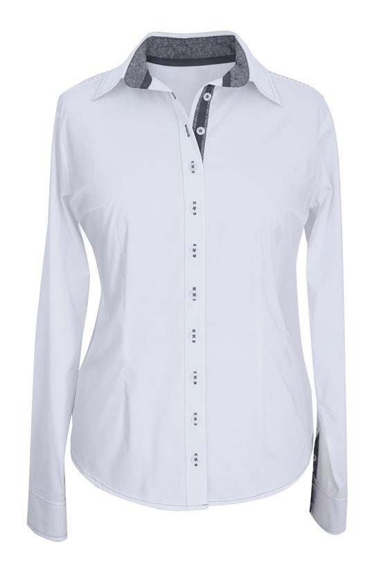 75b7722a529d94 Elegancka koszula wizytowa biała z przeszyciami - XL-ka