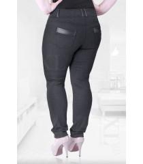 Grafitowe legginsy z kieszeniami - CRISTAL