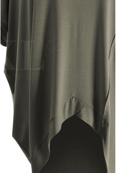 Khaki tunika z krótkim rękawem LORI