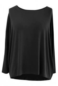 Dzianinowa bluzka oversize ERIN czarna