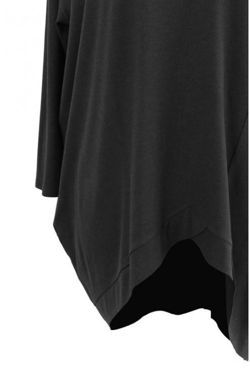 Grafitowa tunika asymetryczna LORI 2 (ciepły materiał)